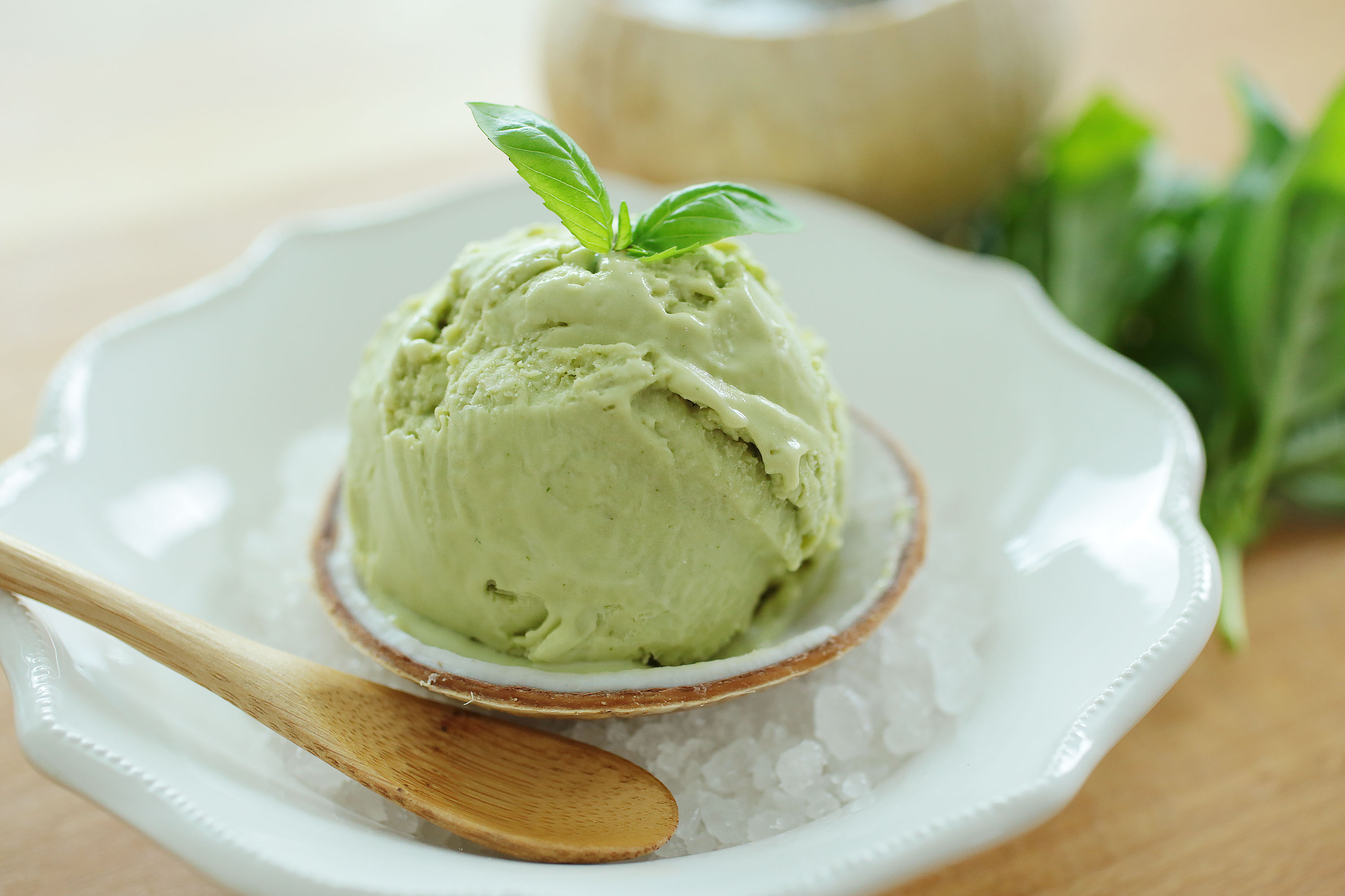 Basil Coconut Ice Cream