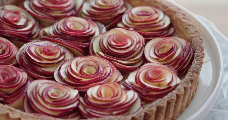 Caramel Apple Rose Tart